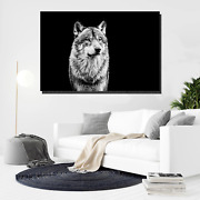 Grey Wolf Portrait Wolves And Wolf Canvas Art Print For Wall Decor