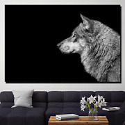 Wolf Side View Wolves And Wolf Canvas Art Print For Wall Decor