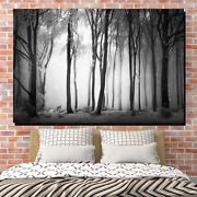 Wolf Among Trees Wolves And Wolf Canvas Art Print For Wall Decor