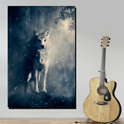 Spirit Wolf Wolves And Wolf Canvas Art Print For Wall Decor