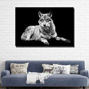Sitting Grey Wolf Wolves And Wolf Canvas Art Print For Wall Decor