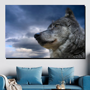 Wolf In Contemplation Wolves And Wolf Canvas Art Print For Wall Decor