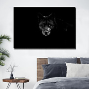 Black Wolf Wolves And Wolf Canvas Art Print For Wall Decor