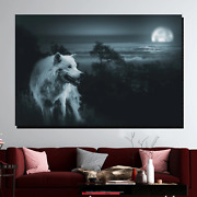 Midnight Wolf Wolves And Wolf Canvas Art Print For Wall Decor
