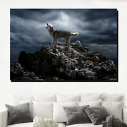 Song Of The Wolf Wolves And Wolf Canvas Art Print For Wall Decor