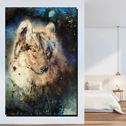 Grunge Wolf Wolves And Wolf Canvas Art Print For Wall Decor