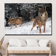 Timber Wolves Wolves And Wolf Canvas Art Print For Wall Decor