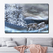 Winter Wolves Wolves And Wolf Canvas Art Print For Wall Decor