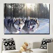 Wolf Buddies Wolves And Wolf Canvas Art Print For Wall Decor