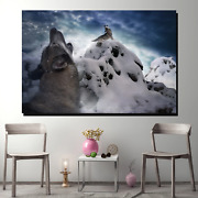 Cry Of The Wolves Wolves And Wolf Canvas Art Print For Wall Decor