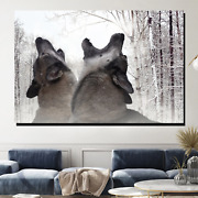 Snow Wolves Wolves And Wolf Canvas Art Print For Wall Decor