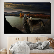 Wolf Song Wolves And Wolf Canvas Art Print For Wall Decor