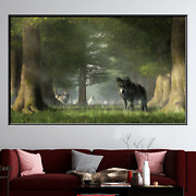 Wolf Pack Wolves And Wolf Canvas Art Print For Wall Decor