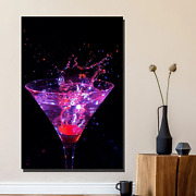 Martini Splash Beer Whiskey And Wine Canvas Art Print For Wall Decor