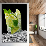 Mojito Cocktail Beer Whiskey And Wine Canvas Art Print For Wall Decor