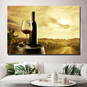 Wine And Vineyard Beer Whiskey And Wine Canvas Art Print For Wall Decor
