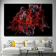 Wine Splash Beer Whiskey And Wine Canvas Art Print For Wall Decor