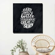 Every Empty Bottle Beer Whiskey And Wine Canvas Art Print For Wall Decor