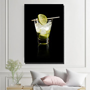 Vodka With Lime Beer Whiskey And Wine Canvas Art Print For Wall Decor
