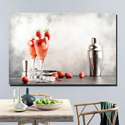 Rossini Italian Cocktail Beer Whiskey And Wine Canvas Art Print For Wall Decor