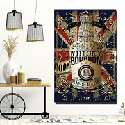 Bottle Of Whiskey Beer Whiskey And Wine Canvas Art Print For Wall Decor