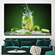 Mojito Beer Whiskey And Wine Canvas Art Print For Wall Decor
