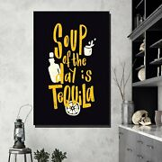 Soup Of The Day Beer Whiskey And Wine Canvas Art Print For Wall Decor
