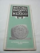 Vintage National Railways Of Mexico Brochure Timetables Spring-summer 1969