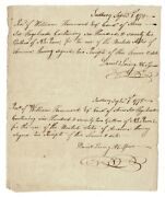 Manuscript Receipts And Rosters For The Transportation Of Rum During Americana