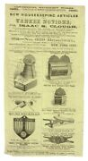 Isaac S Clough / Collection Of Ephemera Advertising Inventions And Products
