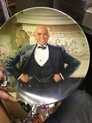 Daddy Warbucks Limited Edition Plate 8.5 Annie Series Edwin M Knowles China