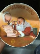 Christmas 1985 Limited Edition Plate 8.5 Annie Series Edwin M Knowles China