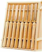 8 Piece Chisel Set Wood Lathe High Speed Small Pens Spindles Bowls Turning Tools