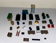 Vintage Ho Model Railroad Figures, Signs, Trees, Animals, And More 120 Items
