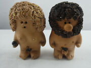 Vintage Fabbrini Adam And Eve Pottery Ceramic Figurines Made In Italy