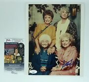 Rue Mcclanahan And Betty White Hand Signed 8x10 Photo W/ Jsa Coa The Golden Girls