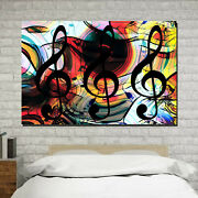 Set Of Music Clefs Musical Instruments Canvas Art Print For Wall Decor