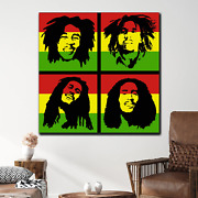 Bob Marley Collage Pop Art Inspired Canvas Art Print For Wall Decor