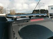 To Fit 12 - 15 Mitsubishi L200 Triton Stainless Rear Roof Bar + 3 Function Leds