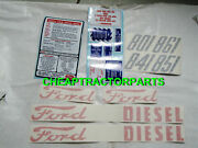 801 Ford Tractor Decal Set 801 841 851 861 Ford Tractor Diesel Complete 🎯