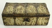 Vintage Wood Celluloid Religious Scene Lined Box Leuthold And Sohuchmann Lucerne