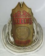 High Eagle Leather Fire Helmet Fire Chief Chicago Rustic White Finish