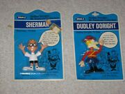 1972 2 Moc Wham-o Bendys Dudley Do Right Sherman From Bullwinkle And Mr Peabody