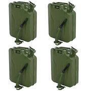 4x Comie 5 Gal 20l Gasoline Gas Fuel Jerry Can Emergency Backup Gas Caddy Tank