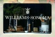 Williams-sonoma Bread And Cheese 2016 Gift Card 0