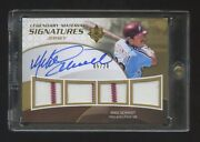 Mike Schmidt 2009 Ultimate Collection Gold Auto Ed 05/20 Quad Patch/jersey Hof