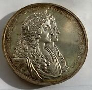 Great Britain King James Ii And Mary Recovery Of Treasure.st.domingo Silver Medal
