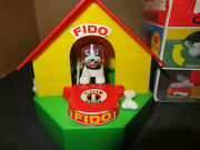 Vintage Plastic Electric Wind Up Doggy House Saving Bank Hong Kong Works
