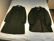 Very Rare 1880 Mourning Trench Tailcoat Victorian Steampunk Mens Jacket 2 Pieces