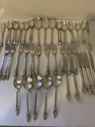 Antique 68 Pieces 1847 Rogers Bros Stainless Silver Plates First Love